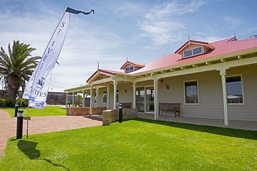 Exterior view of main Clubhouse at St Ives Albany retirement village