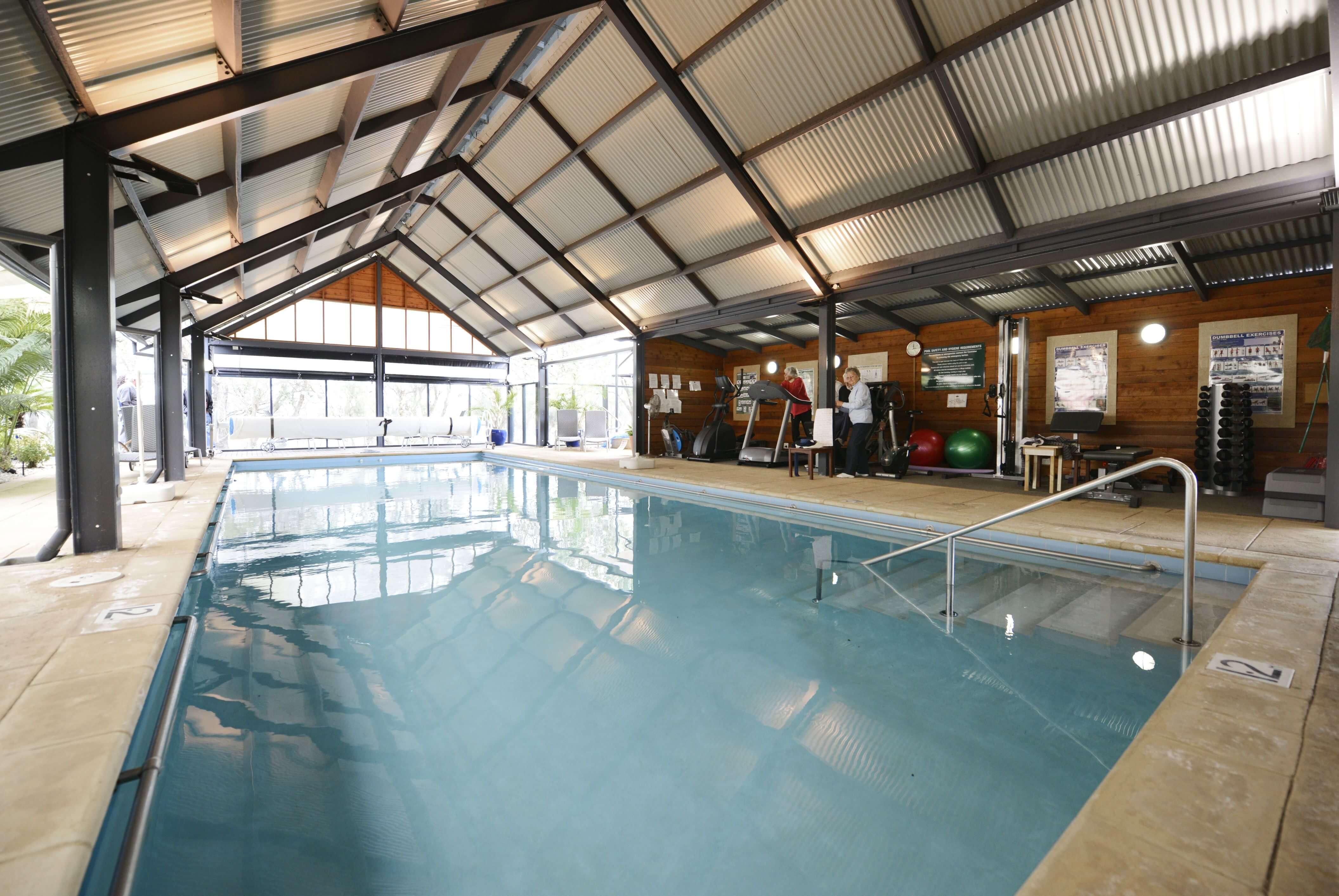 Indoor all-weather swimming pool at St Ives Mandurah retirement village