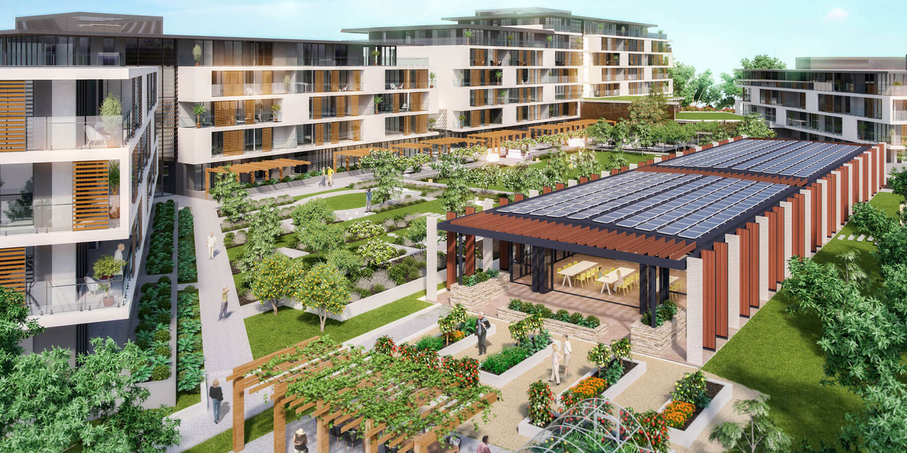 Artist impression (prior to development) of overhead view of St Ives Carine retirement village