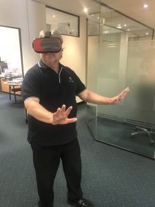 Ash tries a Virtual Reality tour of St Ives Carine