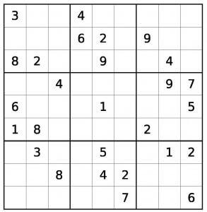 Sudoku-Winter edition-hard difficulty